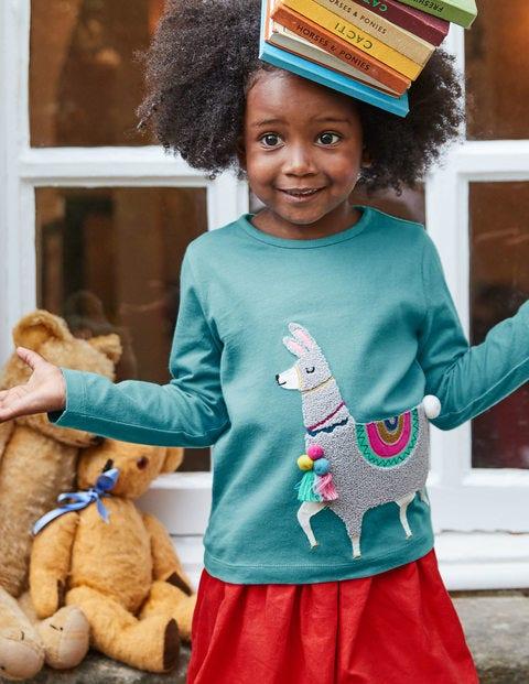 Party Animals T-Shirt - Delphinium Blue Llama
