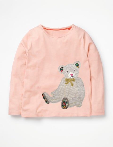 Big Appliqué T-Shirt - Provence Dusty Pink Teddy Bear
