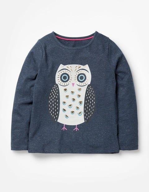 Forest Friends T-Shirt - Navy Owl