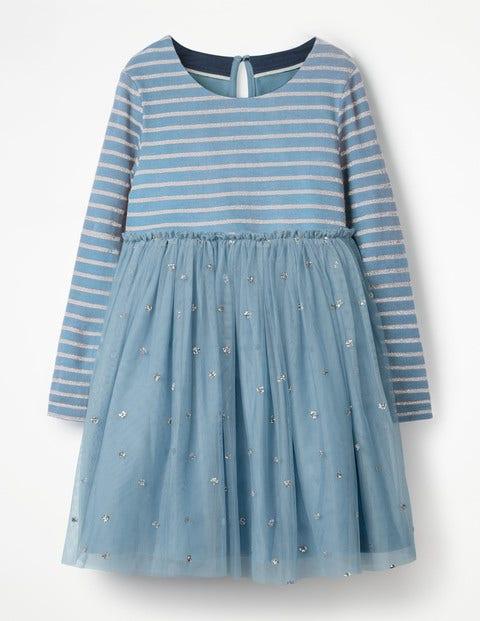 Sparkly Spot Party Dress - Boathouse Blue