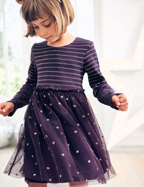 Sparkly Spot Party Dress - Winter Purple