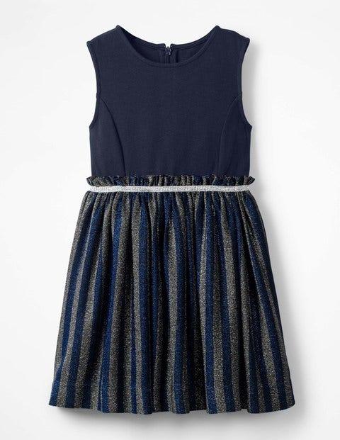 Robe De Soirée À Rayures Lurex - Bleu cobalt
