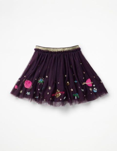 Appliqué Tulle Skirt - Winter Purple Galaxy