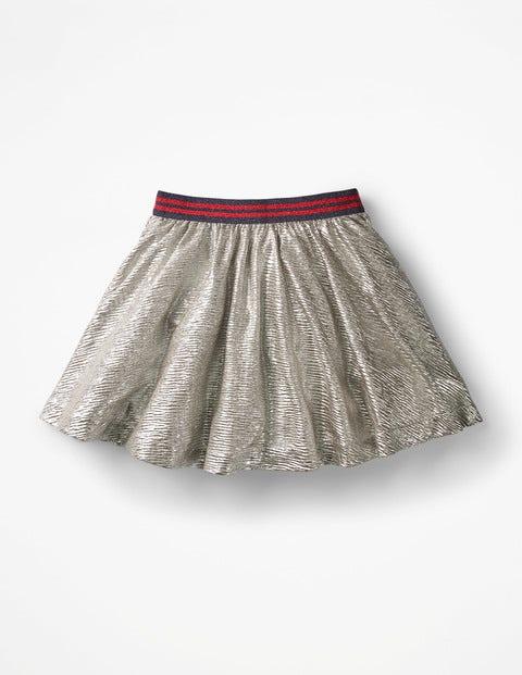 Party Skirt - Metallic Silver