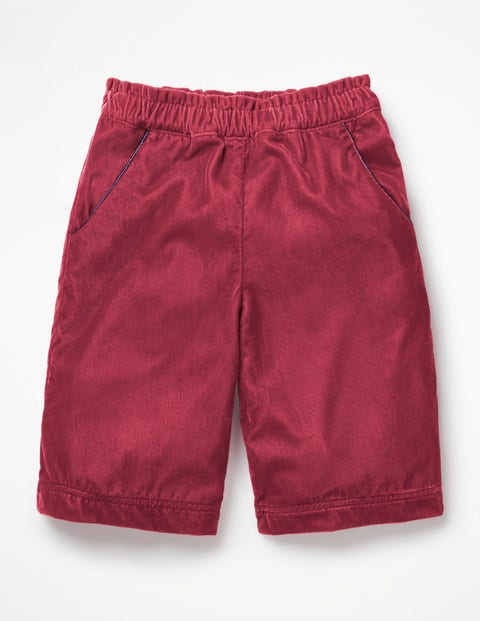 Velvet Culottes - Bramble Red