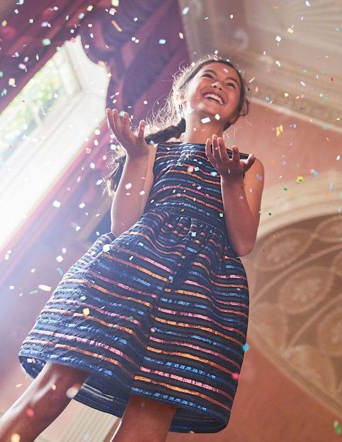Lurex Organza Stripe Dress - Lurex Multistripe