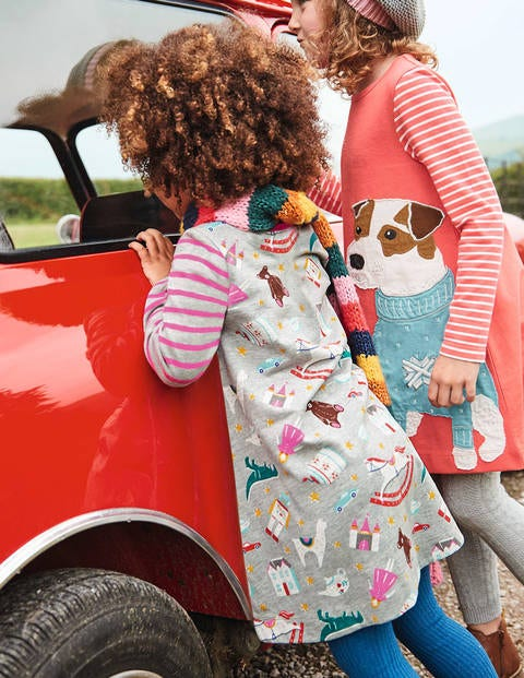 Jersey Swing Dress - Grey Marl Toy Box