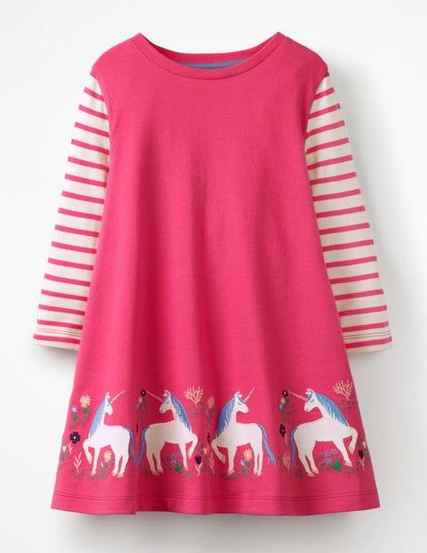 Unicorn Appliqué Tunic - Pop Pink Unicorns
