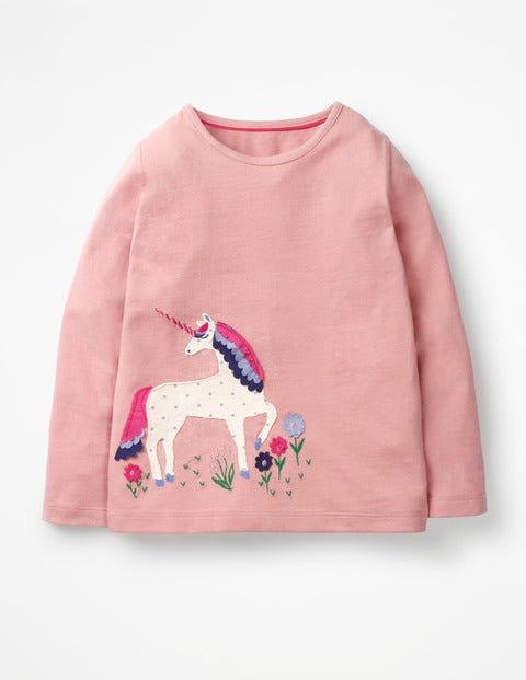 Unicorn Flutter T-Shirt - Vintage Pink Unicorn