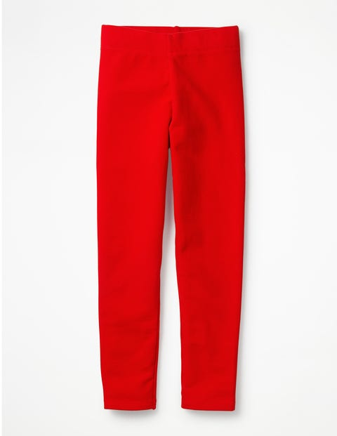 Plain Cosy Leggings - Rockabilly Red