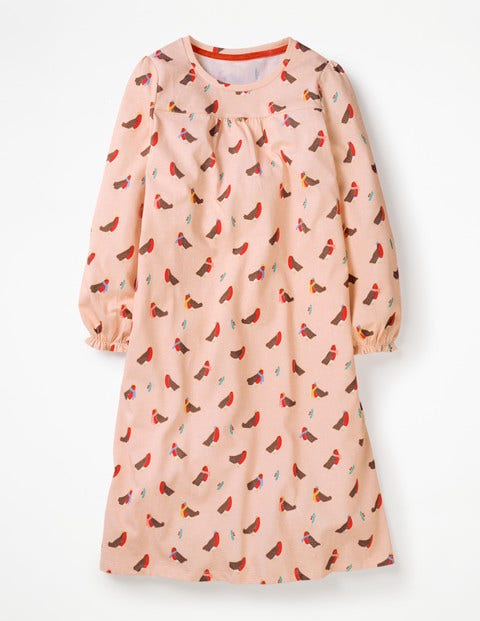 Printed Nightgown - Provence Dusty Pink Robins