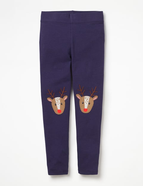 Leggings Mit Applikation - Berliner Blau, Rentiere