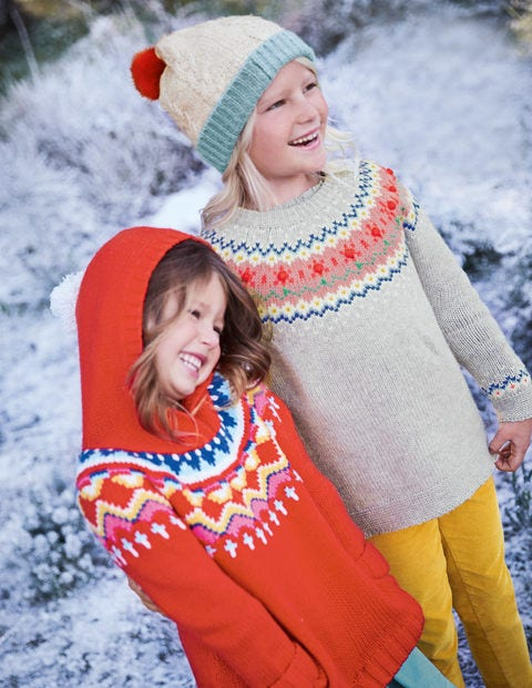 Cosy Knitted Hoodie - Gladioli Red
