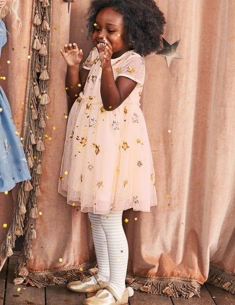 Sequin Star Tulle Dress - Tutu Pink/Stars