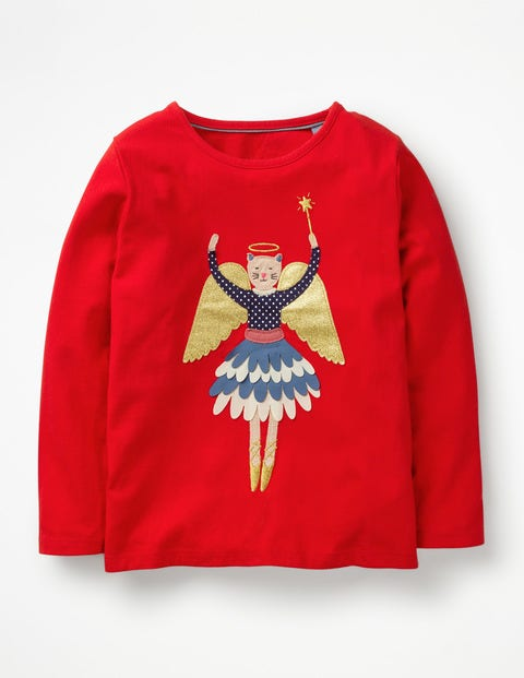 Festive Flutter T-Shirt - Polish Red Angel