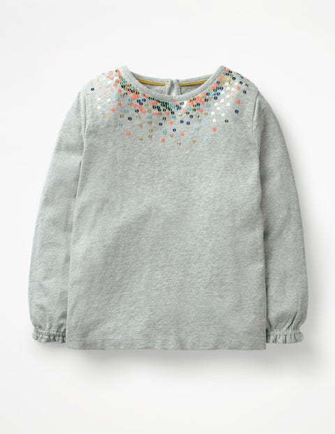 Twinkly Jersey Top - Grey Marl