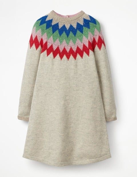 Sparkly Knitted Dress - Grey Marl/Rainbow