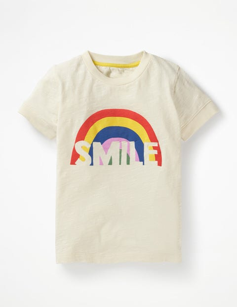 Fun Graphic T-Shirt - Ivory Smile