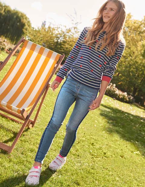 Superstretch Skinny Jeans - Mid Vintage Contrast Stripe