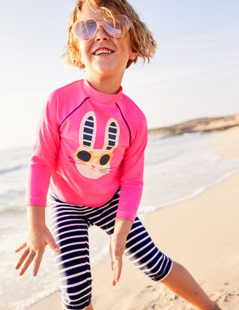 Sun Protective Surf Set - Festival Pink Bunny