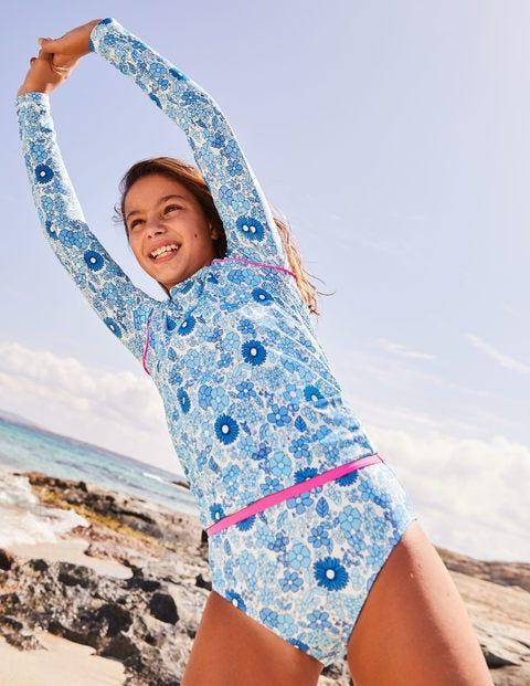 Patterned Bikini Bottoms - Blue Wallpaper Floral