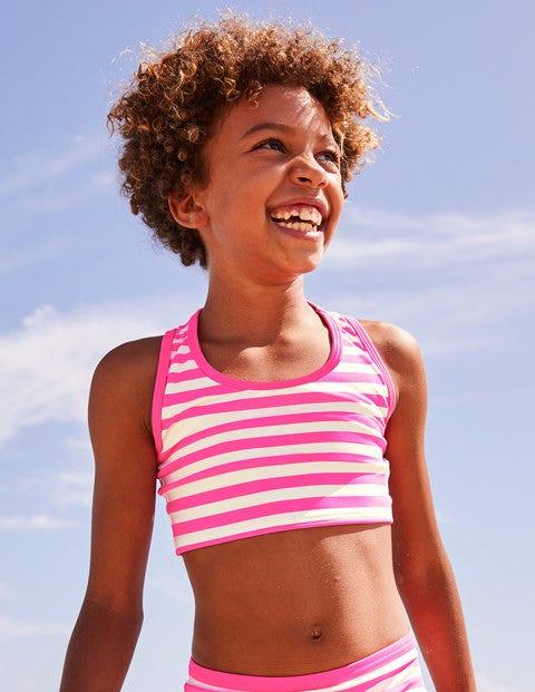 Surf Bikini Top - Coral Pink/Ivory