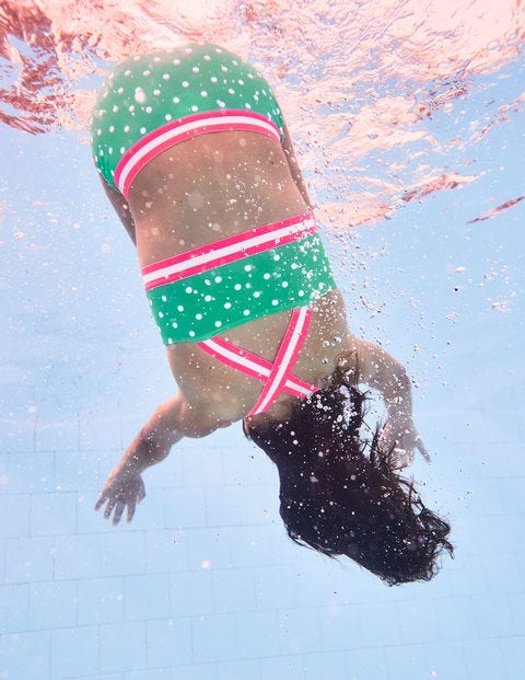 Surf Bikini Set - Jungle Green/Ivory Spots