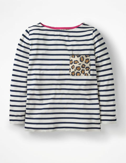 Animal Breton - Ivory/Navy Leopard