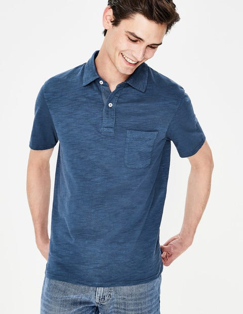 Slub Polo - Sandown Blue