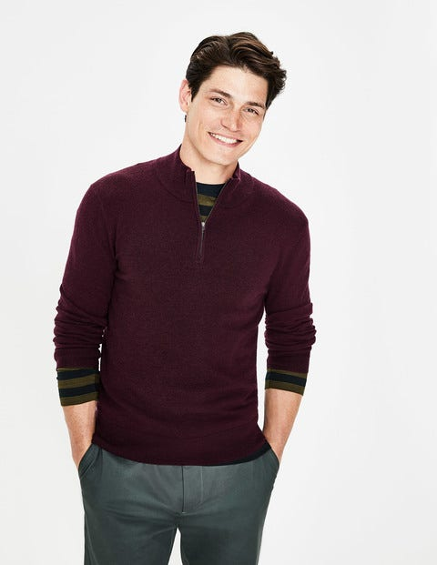 Putney Half-Zip - Deep Raisin