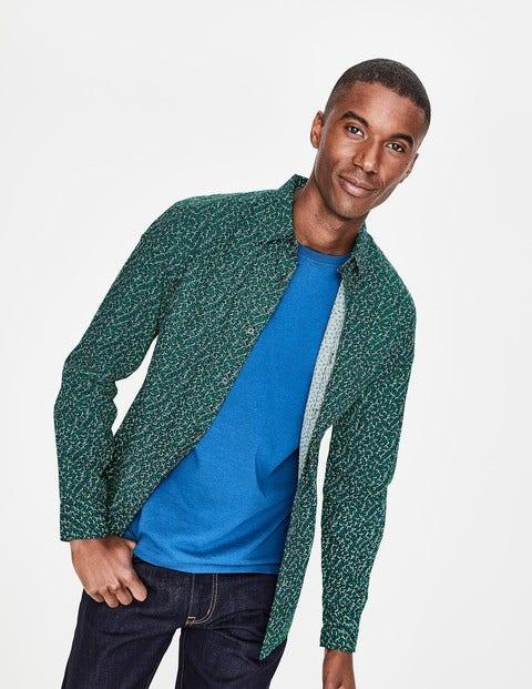 Slim Fit Printed Twill Shirt - Richmond Green Floral