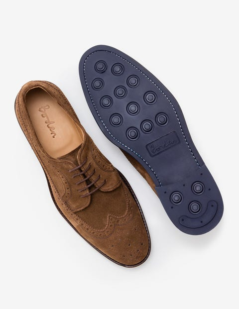 Corby Brogue - Tan Suede