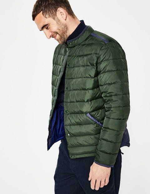 Highgate Quilted Jacket - Spruce Green Colourblock