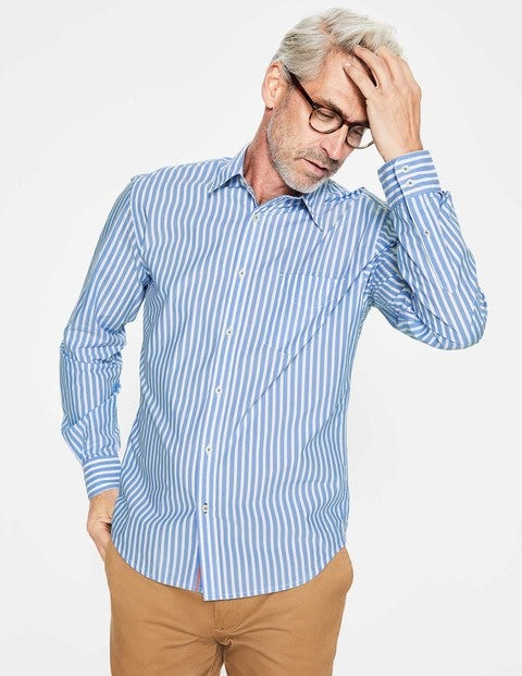 Poplin Pattern Shirt - Seascape Stripe