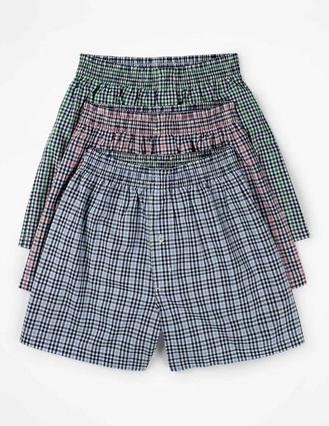 3 Pack Woven Boxers - Gingham Multi Pack