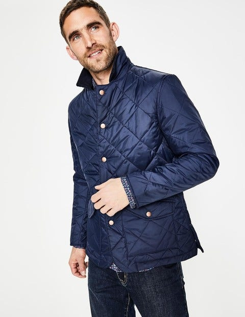 Quilted Jacket - Navy