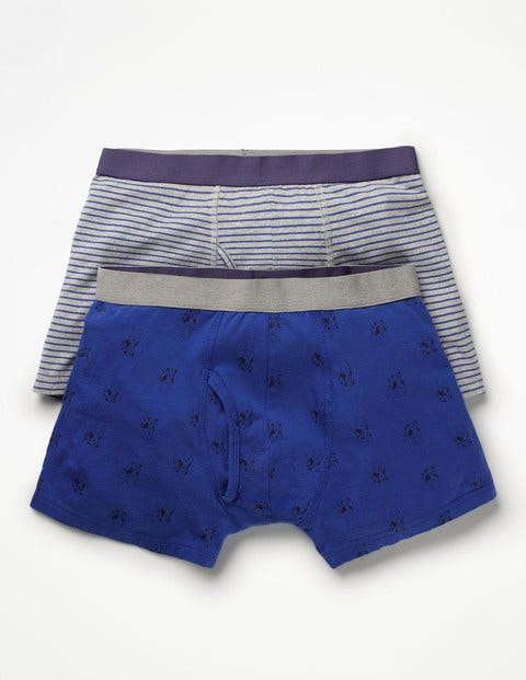 2 Pack Jersey Boxers Blue Men Boden, Blue