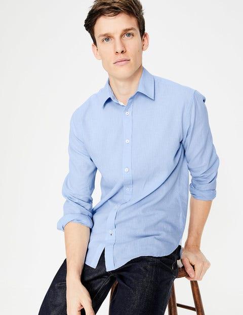 Linen Cotton Shirt - Ice Blue