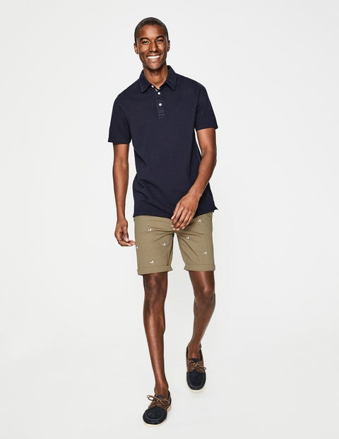 Embroidered Chino Shorts Malt Sprout Embroidery Men Boden