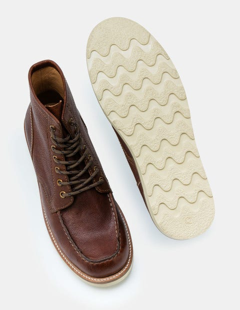 Leather Chukka Boots - Brown Leather