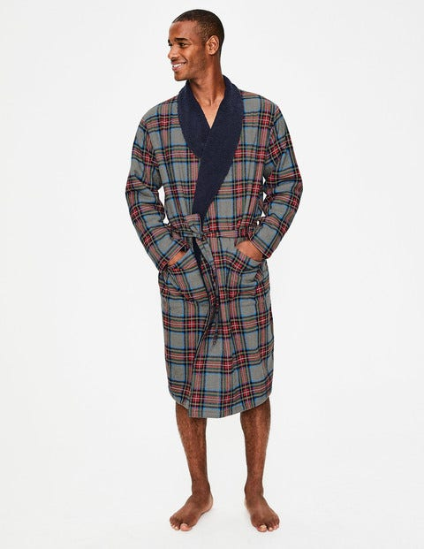 Brushed Cotton Dressing Gown M0070 Nightwear at Boden