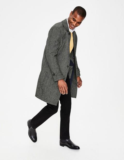 Darley Tweed Car Coat Grey Men Boden, Black