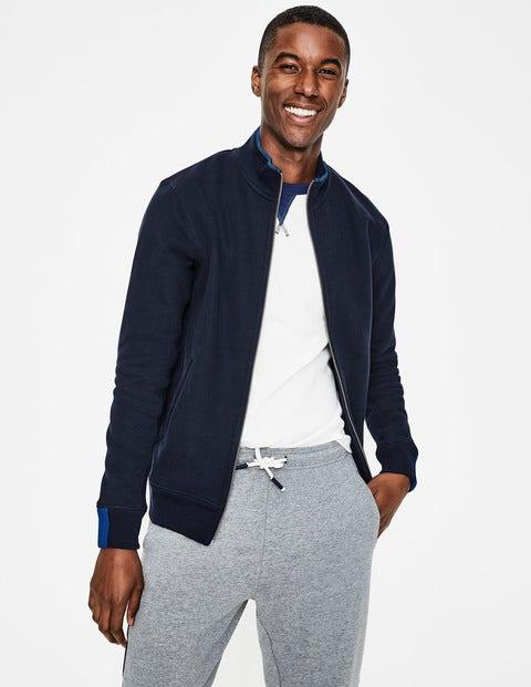 Milton Zip-Up Sweatshirt - Navy