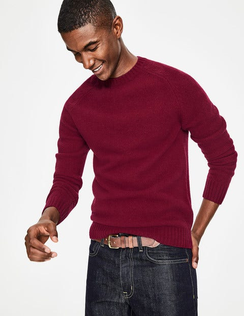 Aldgate Brushed Crew Neck - Ruby