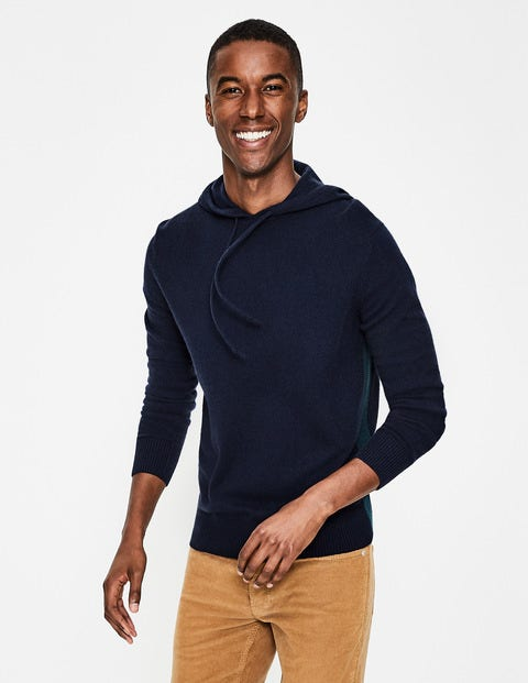 Cashmere Hoody - Navy