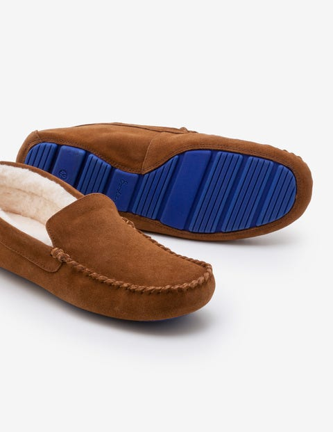 Moccasin Slippers - Brown