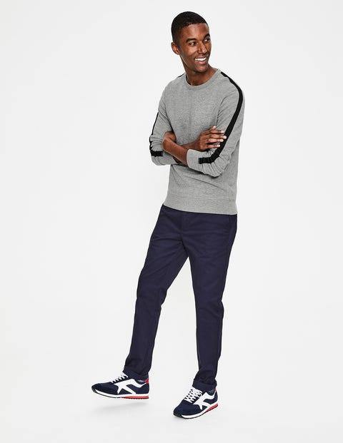 Whistler Sweatshirt - Grey Marl/Navy Stripe