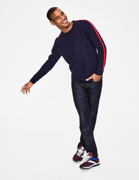 Whistler Sweatshirt - Navy/Red Stripe
