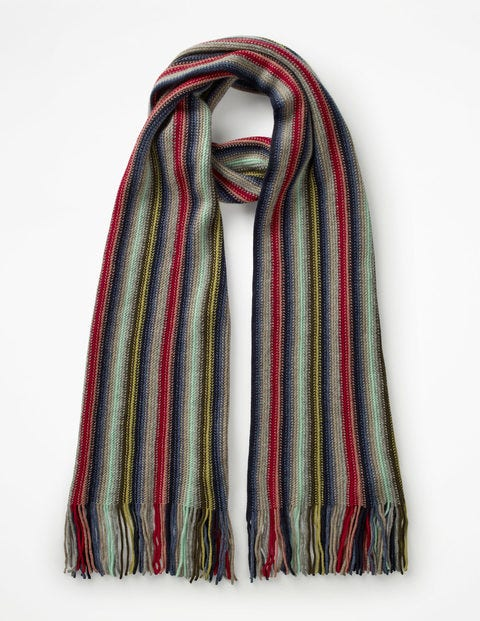Cashmere Stripe Scarf - Multi Stripe