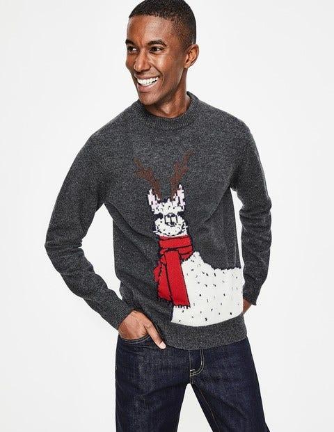 Christmas Crew Neck - Scarf Llama